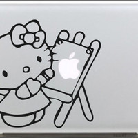 Hello Kitty 3 Mac decals Macbook sticker Macbook pro decal Macbook air decal Aappl decal sticker