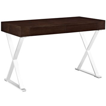 Sector Office Desk Walnut EEI-1183-WAL