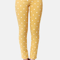 Penny for Your Dots Yellow Polka Dot Jeggings