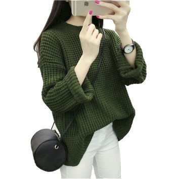 2017 New Women Knitted Long Sleeve Sweater Winter Spring Warm Pullover Sweaters Korean Fashion Loose Clothes Ladies Casual Tops