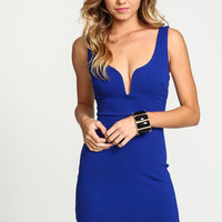 Royal Plunge Strappy Cut Out Dress - LoveCulture