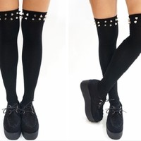 Spiked thigh highs