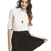 White Button-Up Shirt | Wet Seal