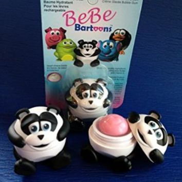 Bebe Bartoons Kids Lip Balms Characters and Refills-Style - Panda