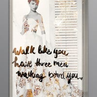 Walk Like You Have Lightbox (Canvas)