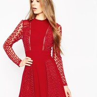 ASOS Guipre Lace and Ladder Detail Dress