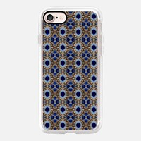 Casetify iPhone 7 Classic Grip Case - blue gem and gold by akaclem #iPhone 7