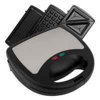 Chef Buddy 3 in 1 Sandwich Panini and Waffle Press