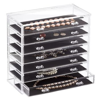 7-Drawer Premium Clear Acrylic Chest