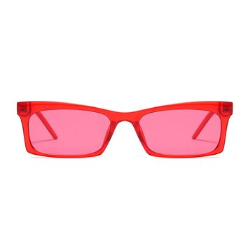 The Off Duty Girl Sunglasses Red