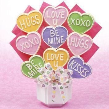 DCCK1IN valentine conversation heart bouquet