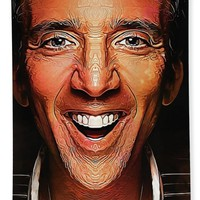 Nic Cage - Caricature Beach Towel