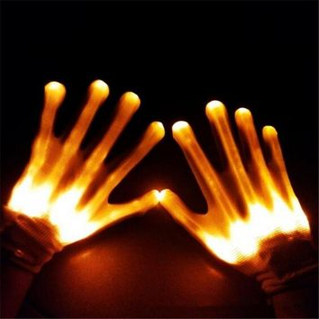 LED Skeleton Gloves ( Costume )