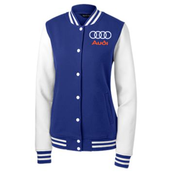 Audi Women's Fleece Letterman Jacket