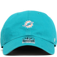 Miami Dolphins Base Runner Clean Up Unstructured Strapback Hat Teal