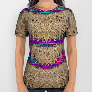 Pearl lace and smiles in peacock style All Over Print Shirt by Pepita Selles
