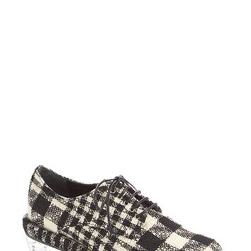 Women's Simone Rocha Tweed Lace-Up Brogue,