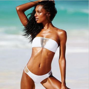 hollow out triangle swimwear