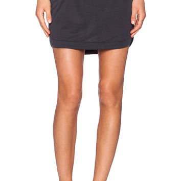 Splendid Sandwash Jersey Skirt in Charcoal