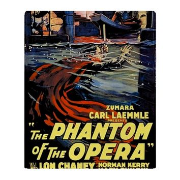 Phantom of the Opera Water Throw Blanket
