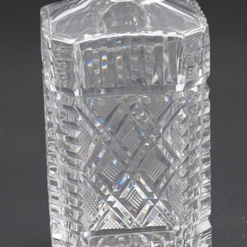 Square crystal Decanter Signed Waterford