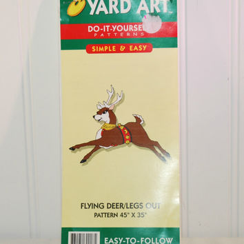 Best wood yard decorations products on wanelo flying deer yard art do it yourself patterns c 1994 wood yard solutioingenieria Images