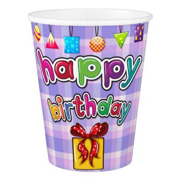 Happy Birthday Gift Paper Cup