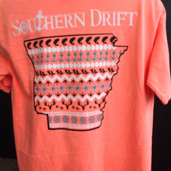 "Comfort Colors Short Sleeve Pocket Tee ""Southern Drift"" Arkansas"
