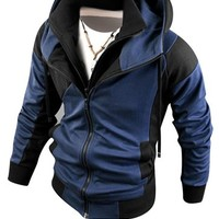 Jeansian Men's Fashion Jacket Outerwear Tops Hoodie