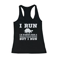 I'm Slower than a Turtle Funny Workout Tank Top Gym sleeveless Shirt