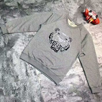 ONETOW KENZO Fashion Unisex Graffiti Monogram Print Cotton Long Sleeve Hooded Sweater G-A-GHSY-1 Day-First?