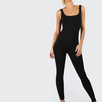 Scoop Neck Skinny Fit Tank Jumpsuit -SheIn(Sheinside)
