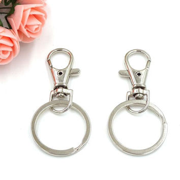 Key Chain Porte Clef Chaveiros Metal Keychain For Keys With Split Keyring Presente Criativo Lembrancinhas Key Accessories 20pcs
