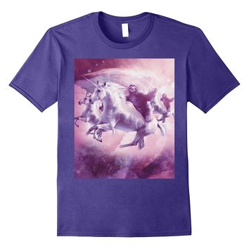 Epic Space Sloth Riding On Unicorn T-Shirt