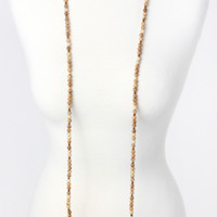 The Britten Necklace - Natural/Purple