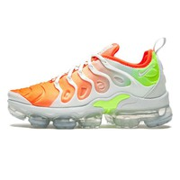 Nike Air Vapormax Plus Women Men Wave Type Leisure Transparent air cushion sole Sneskers B-CSXY White/Orange