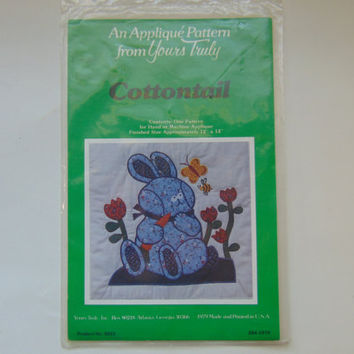 Cottontail An Applique Pattern for Yours Truly Wall Quilt Great for Child Room