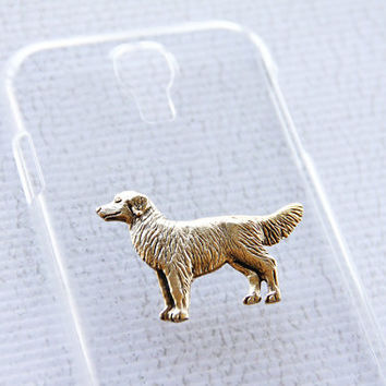Retriever Clear Gold Galaxy Samsung S4 Shiny Hard Cover Cellphone Shell iPhone 6