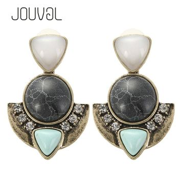 2017 Vintage Stud Earrings For Girls Women Earring Geometric Ear Studs Earing Broncos Bohemian Earings Fashion Jewelry E1112
