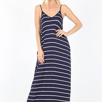 Essential Striped Cami Maxi Dress - More Colors!