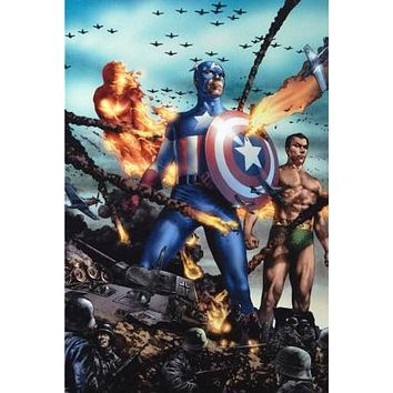 "Giant-Size Invaders #2 - Limited Edition Giclee on Stretched Canvas by Efren ""Jay"" Anacleto and Marvel Comics"