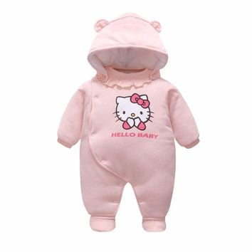 Autumn & Winter Baby Clothes Infant One Piece Baby Romper Clothing Baby Snowsuit Cotton padded Babe Overalls 0-12M Winter Romper