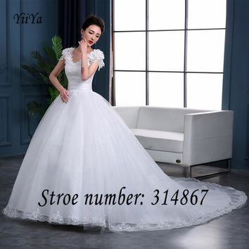 Free Shipping Wedding Dresses Sexy Lace up Brial Gowns Strapless Bridal Frocks Wedding Dress with train Vestidos De Novia DL005