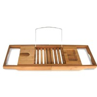 Bamboo Bathtub Caddy with Extending Sides By Toilettree Products
