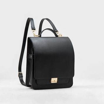 Minimal Vintage Archive Leather Backpack/Crossbody Bag
