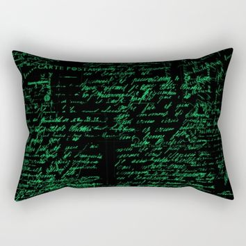 Vintage Handwriting Rectangular Pillow by Berwies