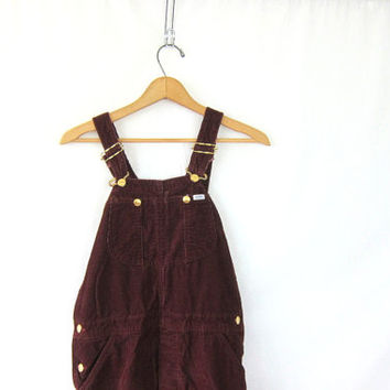 Vintage brownish red LEE Corduroy Bib Overalls.. Carpenter Pants Size Womens size Hipster Boho