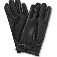 PRODUCT - Mulberry - Cashmere-Lined Leather Gloves - 365664   MR PORTER