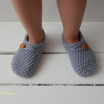 Super Easy slippers, Knitted Wool Socks, knitted slippers socks, socks for home, socks for sleep. Kid's Slippers. Comfortable Shoes