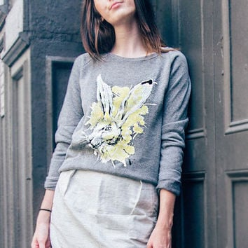Chinese Zodiac Rabbit: VAUTE x Mia Pullover in Grey [Benefit for Rabbit Rescue & Rehab]